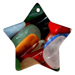 Beautiful Stones In Different Colors Colorful Star Ornament (two Sides)