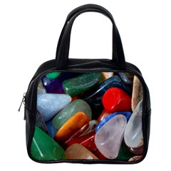Beautiful Stones In Different Colors Colorful Classic Handbags (one Side)