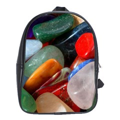 Beautiful Stones In Different Colors Colorful School Bags(large)
