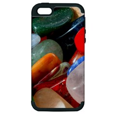 Beautiful Stones In Different Colors Colorful Apple Iphone 5 Hardshell Case (pc+silicone)