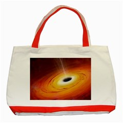 Black Hole Classic Tote Bag (red)