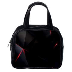 Black Light Dark Figures Classic Handbags (one Side)