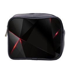 Black Light Dark Figures Mini Toiletries Bag 2 Side