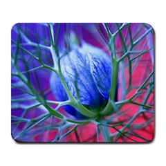 Blue Flowers With Thorns Large Mousepads