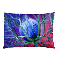 Blue Flowers With Thorns Pillow Case