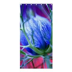 Blue Flowers With Thorns Shower Curtain 36  X 72  (stall)