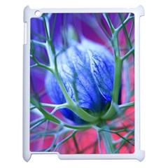 Blue Flowers With Thorns Apple Ipad 2 Case (white)
