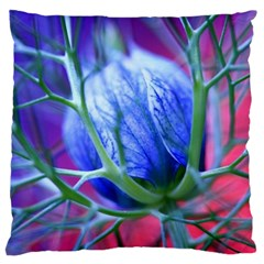 Blue Flowers With Thorns Large Cushion Case (two Sides)