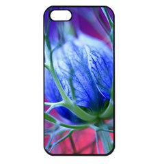 Blue Flowers With Thorns Apple Iphone 5 Seamless Case (black)