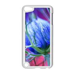 Blue Flowers With Thorns Apple Ipod Touch 5 Case (white)