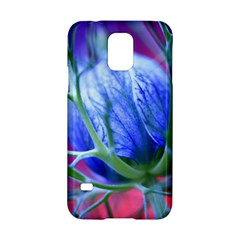 Blue Flowers With Thorns Samsung Galaxy S5 Hardshell Case