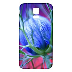 Blue Flowers With Thorns Samsung Galaxy S5 Back Case (white)