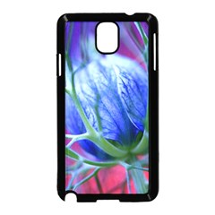 Blue Flowers With Thorns Samsung Galaxy Note 3 Neo Hardshell Case (black)