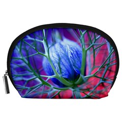 Blue Flowers With Thorns Accessory Pouches (large)
