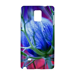 Blue Flowers With Thorns Samsung Galaxy Note 4 Hardshell Case