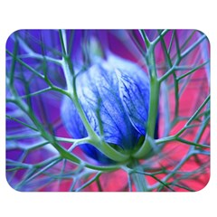 Blue Flowers With Thorns Double Sided Flano Blanket (medium)