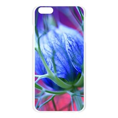 Blue Flowers With Thorns Apple Seamless iPhone 6 Plus/6S Plus Case (Transparent)