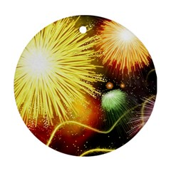 Celebration Colorful Fireworks Beautiful Ornament (round)