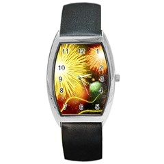 Celebration Colorful Fireworks Beautiful Barrel Style Metal Watch