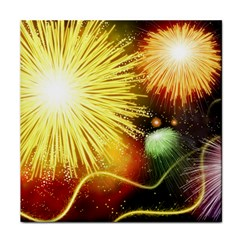 Celebration Colorful Fireworks Beautiful Face Towel