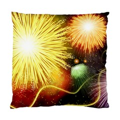 Celebration Colorful Fireworks Beautiful Standard Cushion Case (one Side)