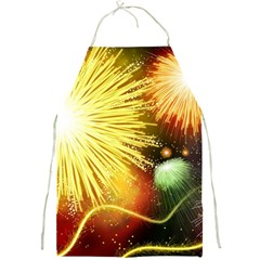 Celebration Colorful Fireworks Beautiful Full Print Aprons