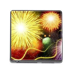 Celebration Colorful Fireworks Beautiful Memory Card Reader (square)