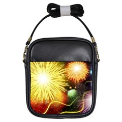 Celebration Colorful Fireworks Beautiful Girls Sling Bags