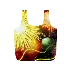 Celebration Colorful Fireworks Beautiful Full Print Recycle Bags (s)