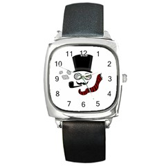 Invisible man Square Metal Watch