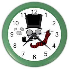 Invisible man Color Wall Clocks