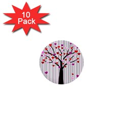Valentine s day tree 1  Mini Buttons (10 pack)