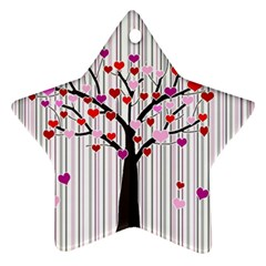 Valentine s day tree Star Ornament (Two Sides)