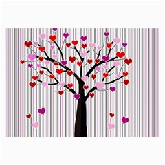 Valentine s Day Tree Large Glasses Cloth
