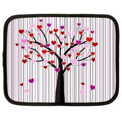 Valentine s day tree Netbook Case (XXL)