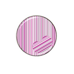 Pink love pattern Hat Clip Ball Marker (10 pack)