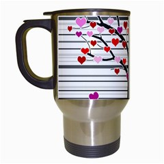 Love tree Travel Mugs (White)