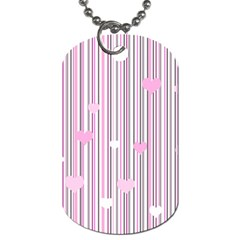 Pink love Dog Tag (One Side)