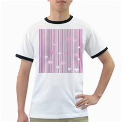 Pink love Ringer T-Shirts