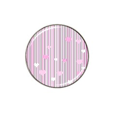 Pink love Hat Clip Ball Marker (10 pack)