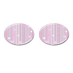 Pink love Cufflinks (Oval)