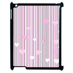 Pink Love Apple Ipad 2 Case (black)