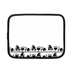 Simple black and white design Netbook Case (Small)