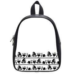 Simple black and white design School Bags (Small)