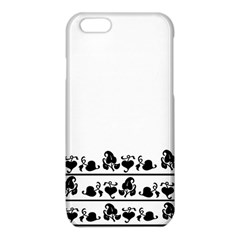 Simple black and white design iPhone 6/6S TPU Case