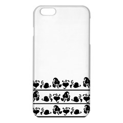 Simple black and white design iPhone 6 Plus/6S Plus TPU Case