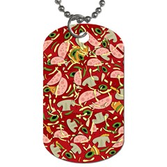 Pizza pattern Dog Tag (One Side)