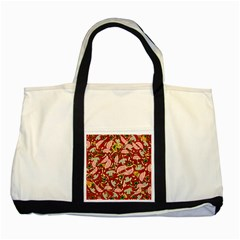 Pizza pattern Two Tone Tote Bag