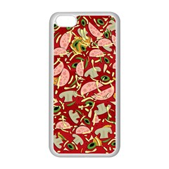 Pizza Pattern Apple Iphone 5c Seamless Case (white)