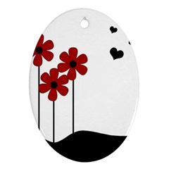 Flowers Ornament (Oval)